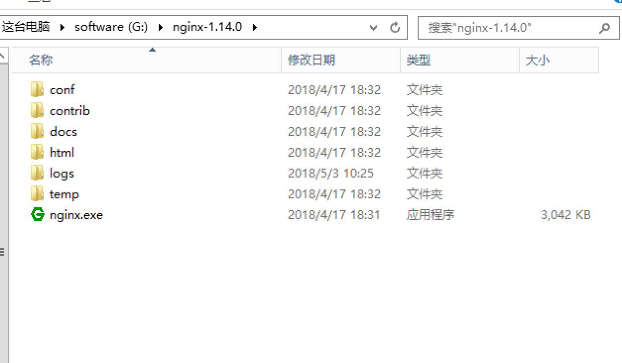 Nginx安装目录